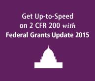 Federal Grants Update 2015